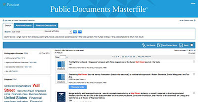 See the New Public Documents Masterfile
