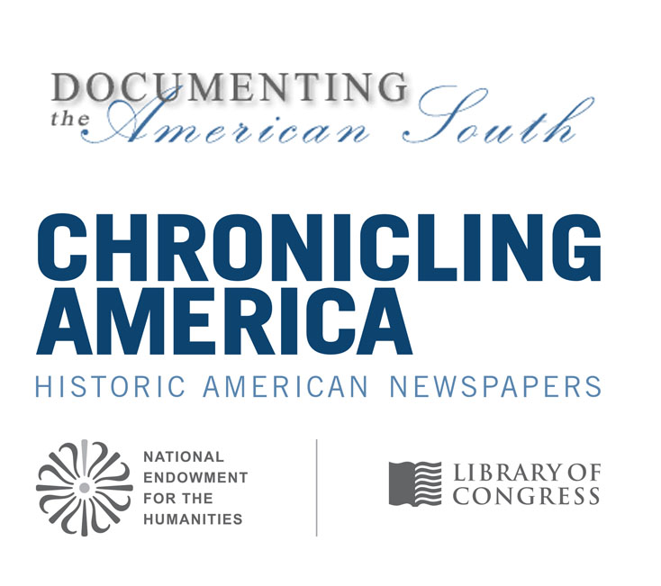 Documenting the American South & Chronicling America  - Additional OA  Content Now Online