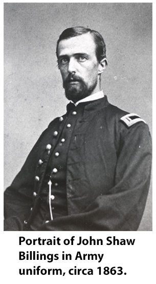 Billings in Army uniform, circa 1863.