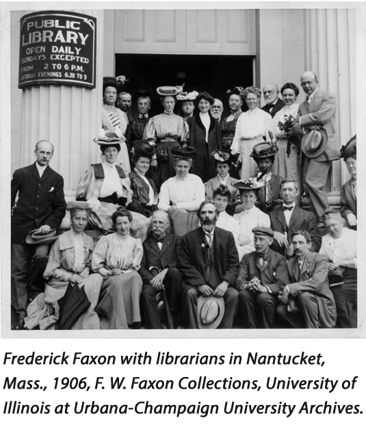 Frederick Faxon with librarians at ALA Conference.