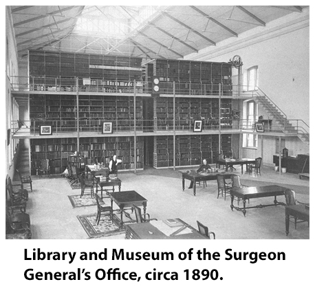 Surgeon General Office Library, circa 1890.