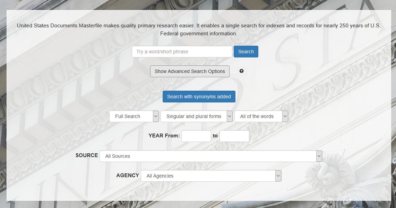 USDM advanced search