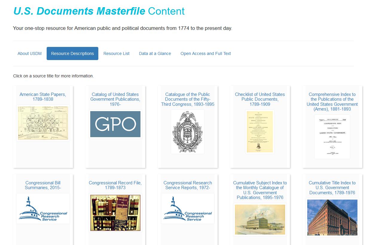 USDM content page