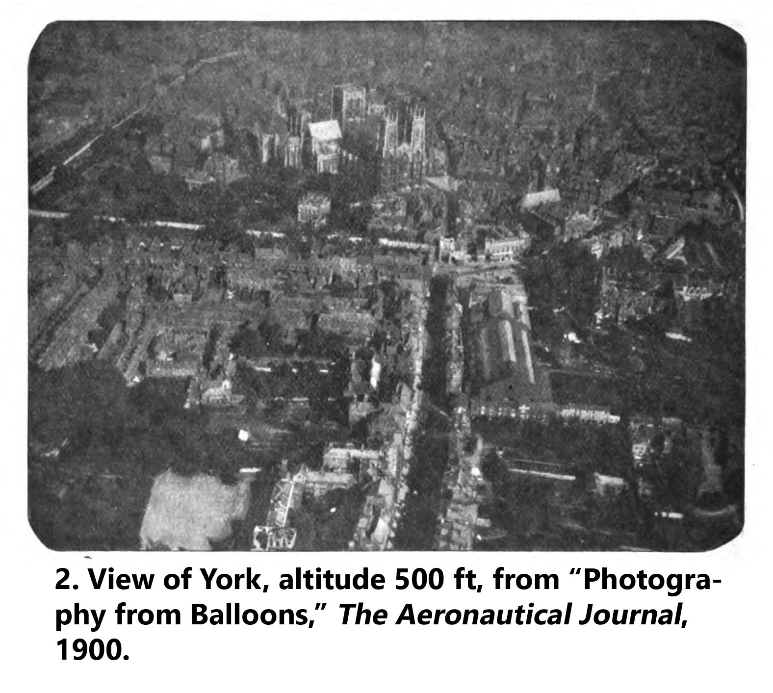 Aerial photo of the City of York from 500 ft, 1900