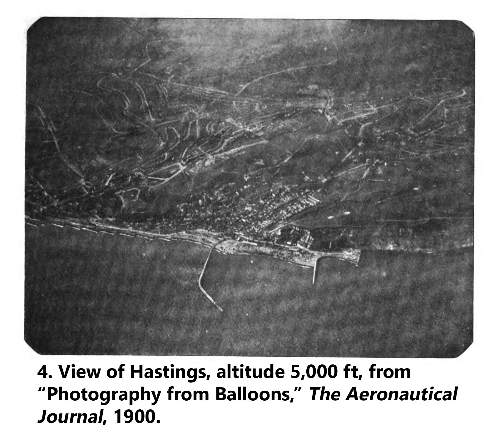 Aerial photo of Hastings, taken from 5,000 ft, 1900