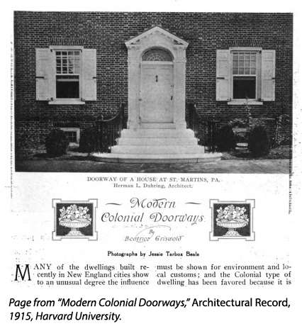 Page from Modern Colonial Doorways in Architectural Record