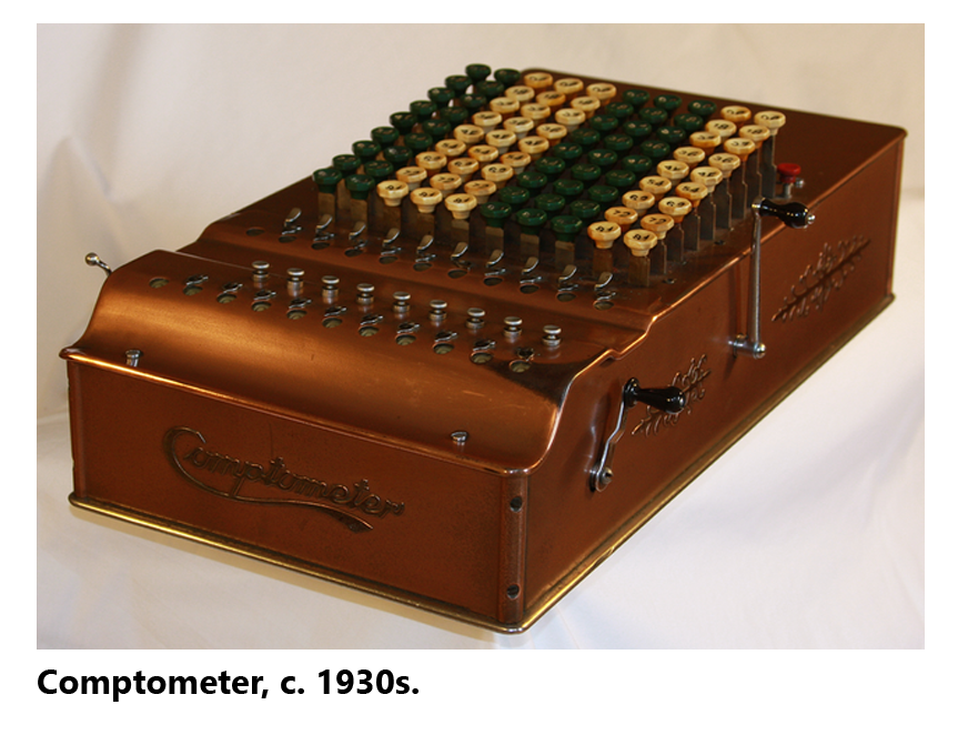 Picture of a Comptometer