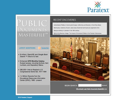 New Introductory Portal and Thousands of New Documents now live in Public Documents Masterfile