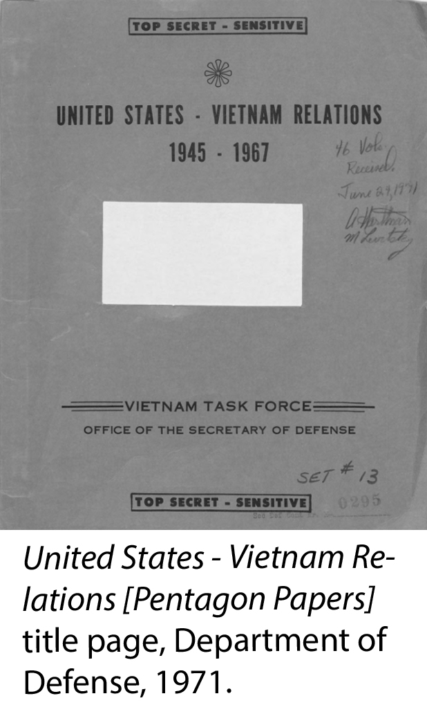 Title page of the Pentagon Papers