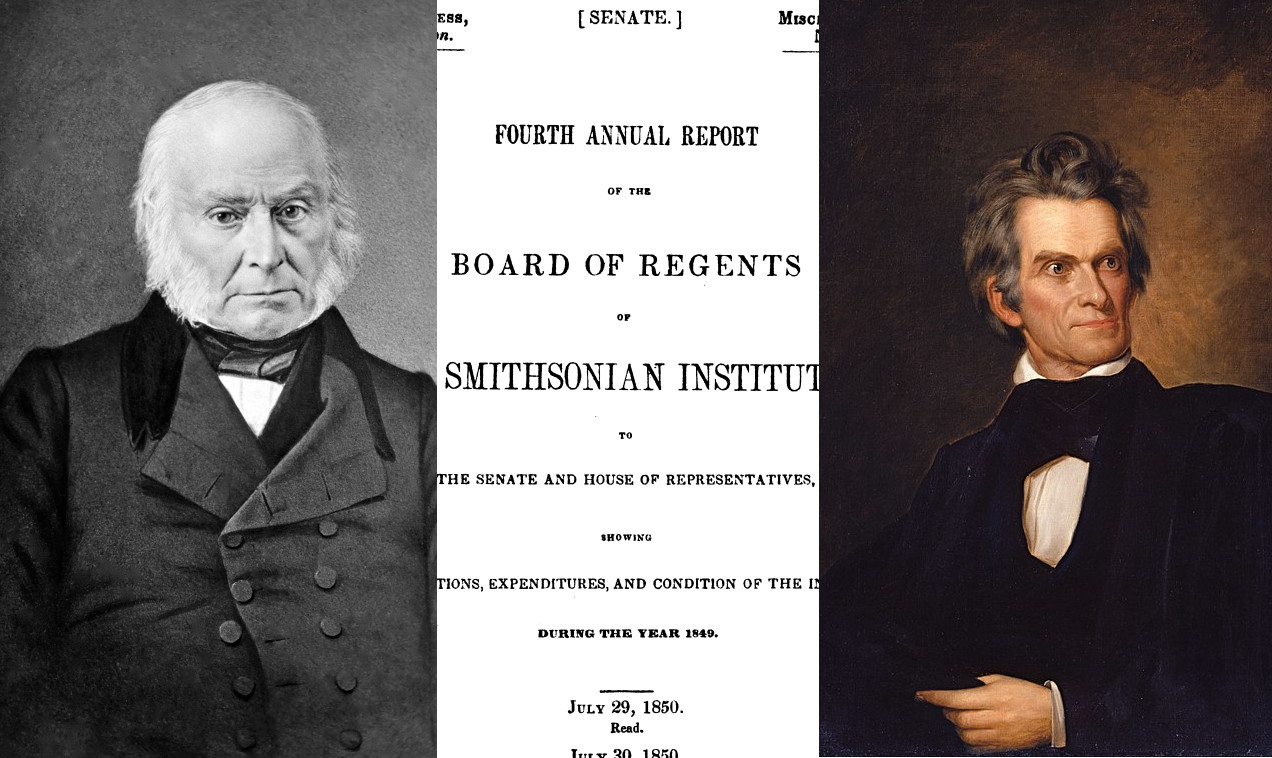 """A Want of Dignity Wholly Unworthy of the Government"": James Smithson, the Annual Report, and the Question: ""Should the Federal Government Participate in Scientific Investigation?"""