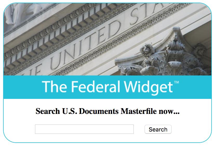 USDM Federal Widget