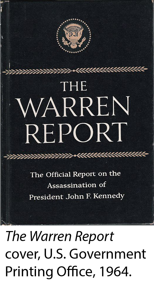 Cover of the Warren Report.